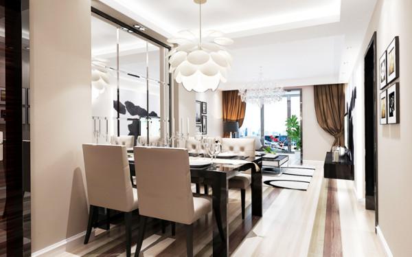 简约的线条、素色的搭配、黑白的照片墙、舒适自然的沙发布艺,挡不住的简约轻快舒适感。