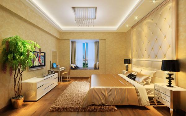 卧室:欧式古典的琉璃灯具和壁面装饰,配以东方传统的家具和埃及的陈设、小品等。混合型风格虽然不拘一格,运用了多种体例,但在设计中仍然是匠心独运,其形体、色彩、材质等方面的总体构图和视觉效果很值得推敲。