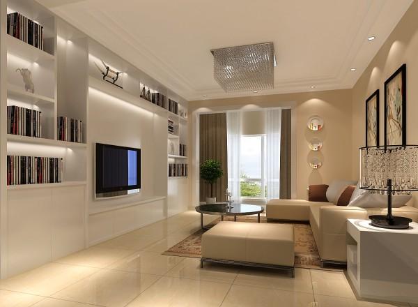 客厅是体现整体风格最明显的区域,现代的沙发、现代的装饰画使整个房间充满时代感