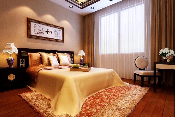 沉稳、安逸的老人房设计理念:走进老人房,迎面看到的是精雕细刻的新中式纹样家具和摆设。现代东方生活美学,在彰显东方文化精髓的同时,融合了西方文化的灵性。