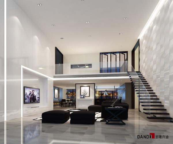 名雕装饰设计——熙龙湾280平别墅--客厅装修效果图:融入巴洛克风格,华丽且高贵,使用大理石、艺术涂料、饰面板等饰材,美观且华丽。