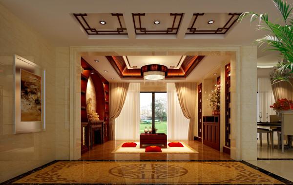 名雕装饰设计——新中式茶室