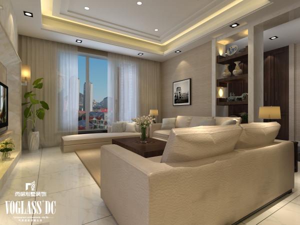 天津尚层装饰——客厅装修效果图