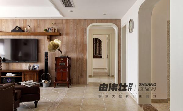 客厅一角,走廊设计