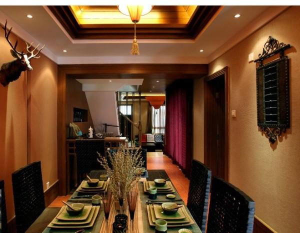 泰式别墅成都装修新泰式餐厅装修效果图片 装修美图 新浪装修家居网高清图片