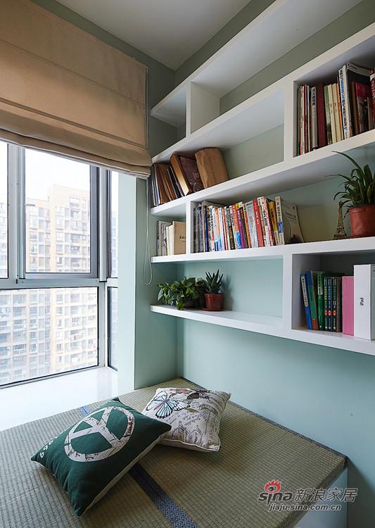 书房设计 蓝色+白色 文雅又不单调