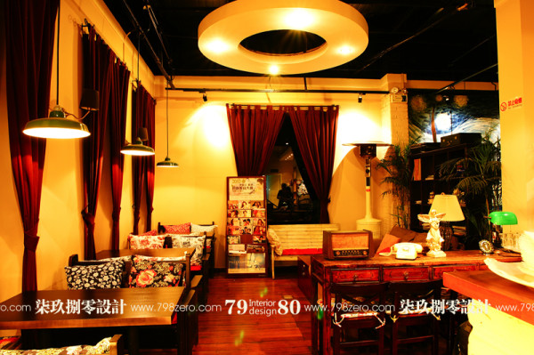 七九八零公装,咖啡馆设计,欧式混搭,酒店设计,餐饮空间设计,会所设计