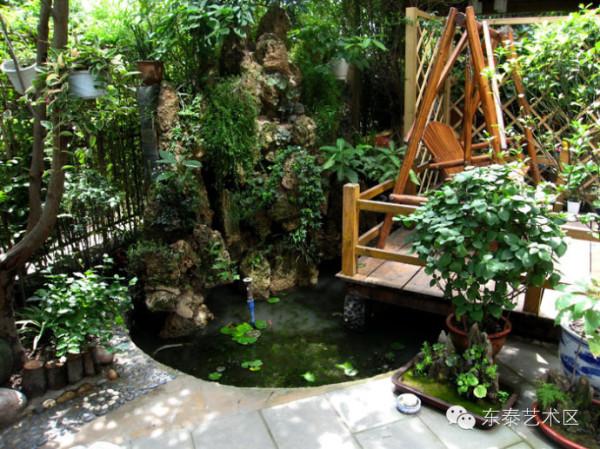 庭院假山 鱼池