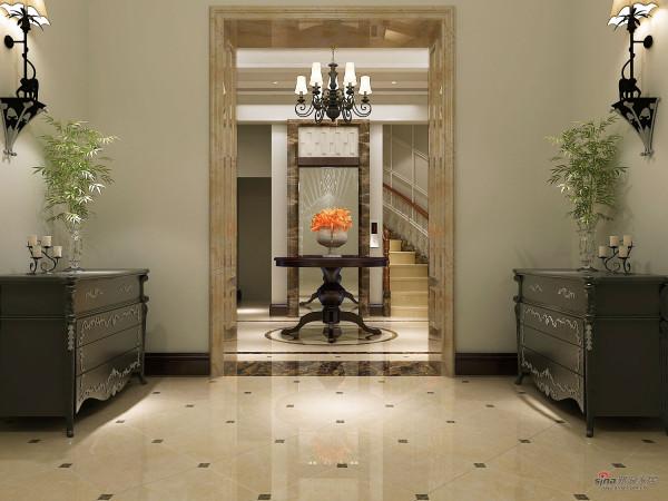 门两边对称的摆放,整齐、干净利落。