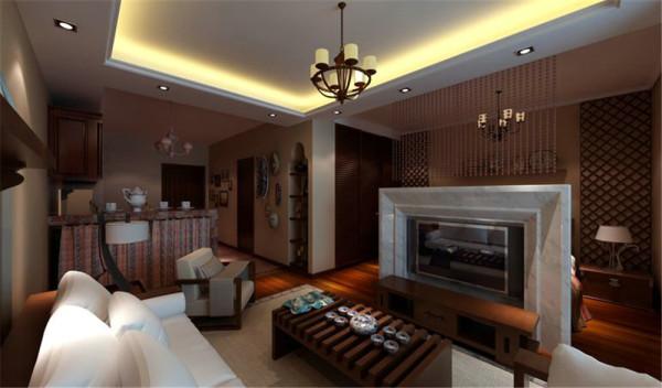 为了让这个迷你居室居住得更加实用舒适,设计师将原址在现卧室空间的厨房迁移到了入户门,并多加了一个砖砌的吧台,同时解决了厨房和餐厅的问题。