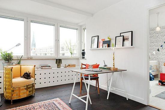清新田园风 可摆设可收纳的83平两居室