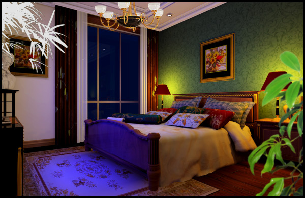 欧式三居文艺青年公主房小清新卧室图片