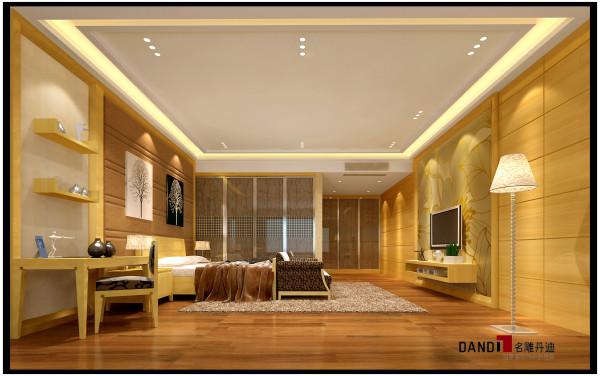 名雕丹迪设计——卧室:空间显得现代华贵而典雅。