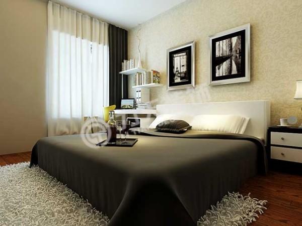 卧室是客户的私密空间作为休息的重要场所,最大考虑的是舒适性,灵活性。同时考虑了储藏空间,主卧背景墙用壁纸来装饰,配以床边台灯来渲染温馨舒适的睡眠环境。