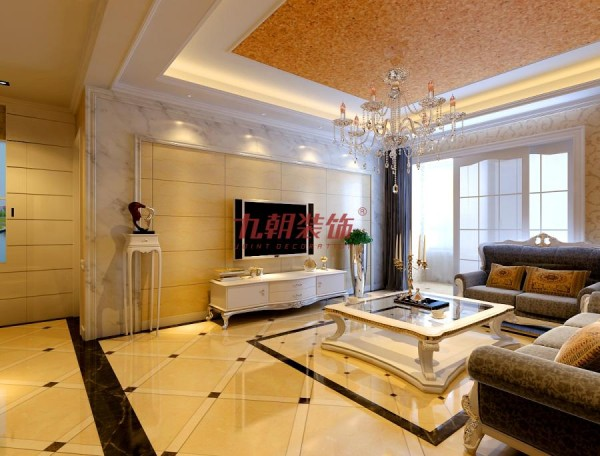 如客厅过道划分出一个展示区域,丰富了空间之余,令客厅空间在尺度上更显奢华。