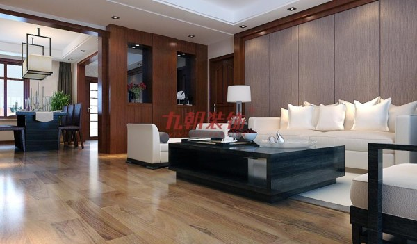 深色木质装饰的运用体现出中式的沉稳与大气