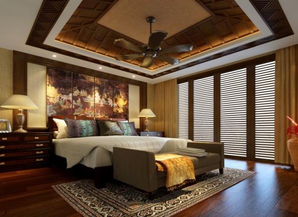 成都龙发装饰-花水湾别墅360㎡-卧室装修效果图