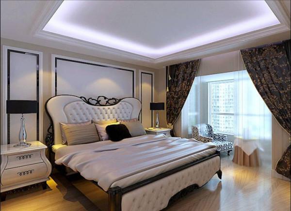 卧室是一个舒适安逸休息的空间。将之前的飘窗拆除不仅增加了主卧的空间,再放上一把休闲椅,主人可以边听歌看书边享受阳光的沐浴。没有太多造型,背景墙只有简单的线条与整个床头背景相呼应。