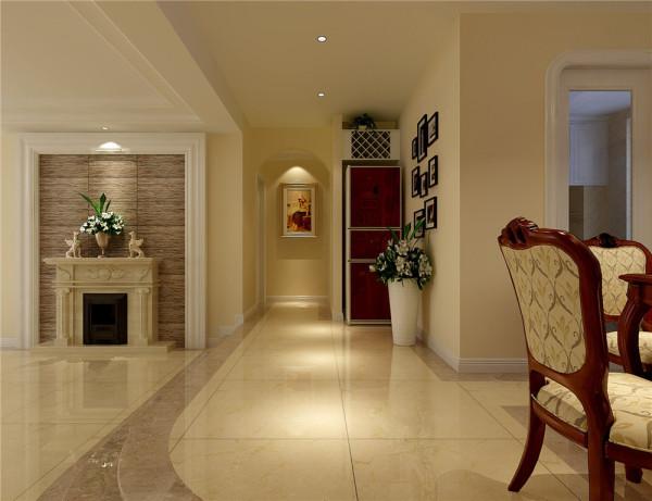 门厅改变了传统进门是鞋柜的观念,利用沉稳庄重的大理石玄关背景墙,古典华丽的地面拼花,展现了主人的高贵。