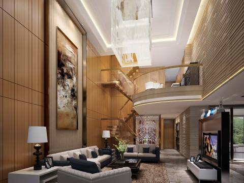 现代风格—400平豪华三层别墅