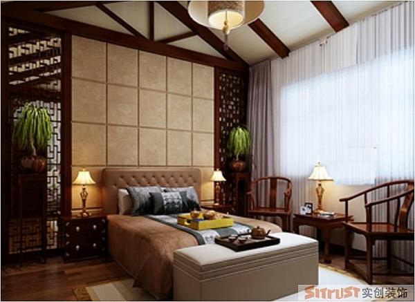 郑州实创装饰-马渡新村190平复式-卧室效果图