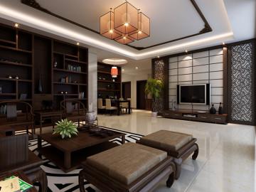 中式茶叶城.公司+三居(400平)