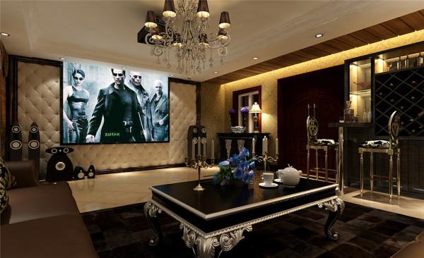 客厅主要是主人休息和会客的场所,家要舒适又要体现主人的品味。电视背景墙,玄关的壁炉,造型的欧式哑口,使空间浑然一体,加上金色壁纸和人造石的点缀,使欧式生活经典和奢华得到体现!