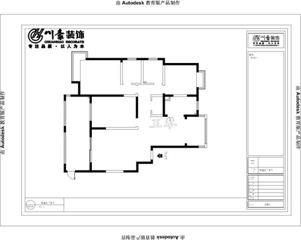 滨湖时代广场130㎡欧式装修设计 原始房型图,没有改造的;合肥川豪装饰设计。