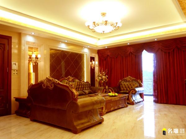 名雕装饰设计—简欧—客厅:简欧低调、奢华、不张扬、大气、高贵、有内含、有气质。