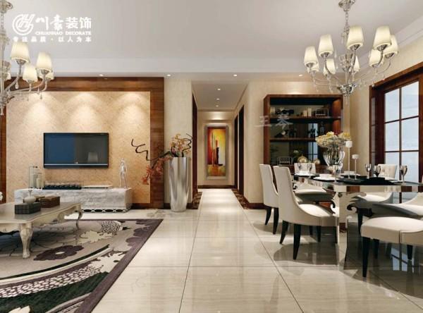 蓝鼎海棠湾128㎡简中式风格 过道玄关效果图