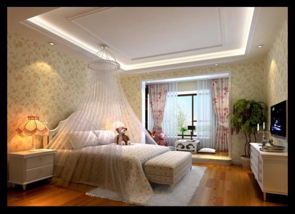 翡翠城-150㎡中式风格-卧室装饰效果图