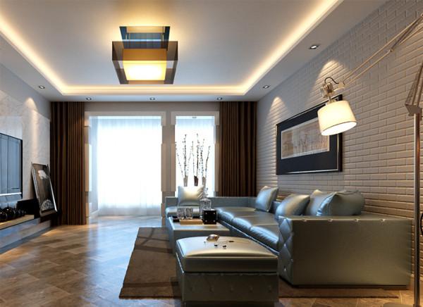 电视背景墙运用浅色大理石,不仅跟整体的现代风格遥相呼应,并且体现出了跟业主相匹配的大气之感,顶面配以香槟色水晶灯更能突显出空间愈加璀璨晶莹。