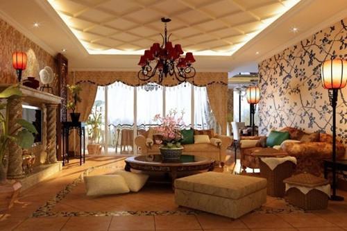 欧式风格,简约而不太多繁杂的空间装饰。一般给人一种豪华、大气的感觉。它主要塑造了尊贵、高雅的家居环境。
