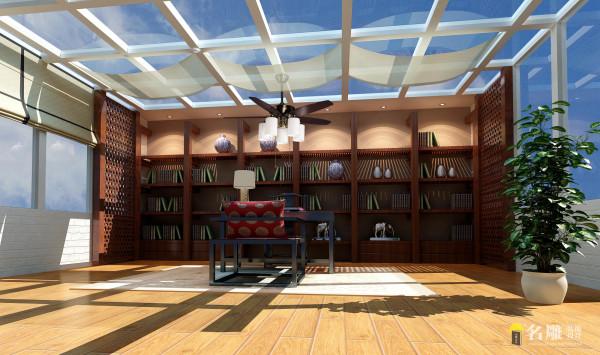 名雕装饰设计——书房:在整体的现代手法中添加些许东方的表达,旨在以优雅的姿态赢取客户的心,不哗众取宠。