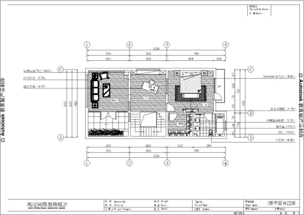 潮白河孔雀城260㎡简欧风格三层平面布置图。