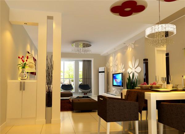 浅色的地砖:经典的吊灯,与浅米色的墙漆相穿梭,陪简洁的家具及饰品点缀,来衬托一种朦胧的艺术生活气息。