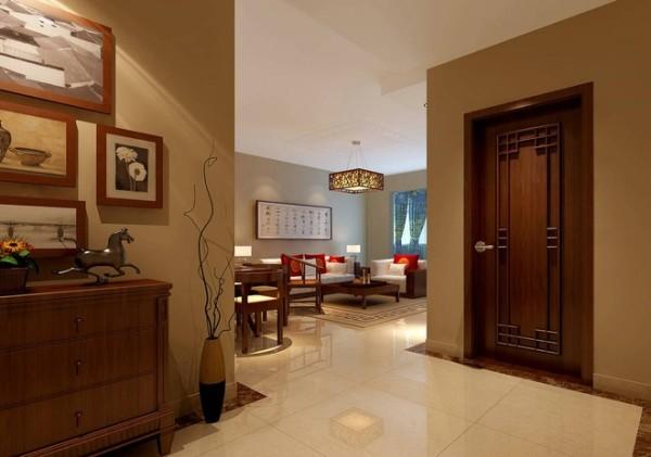 墙面线条的流畅演绎出一股汹涌的潮流,而壁画的选择却为房间的设计增加了几分优雅。