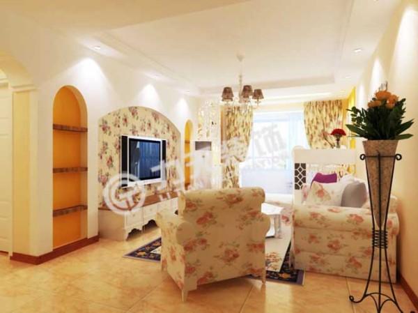 客厅带门的墙设为电视背景墙