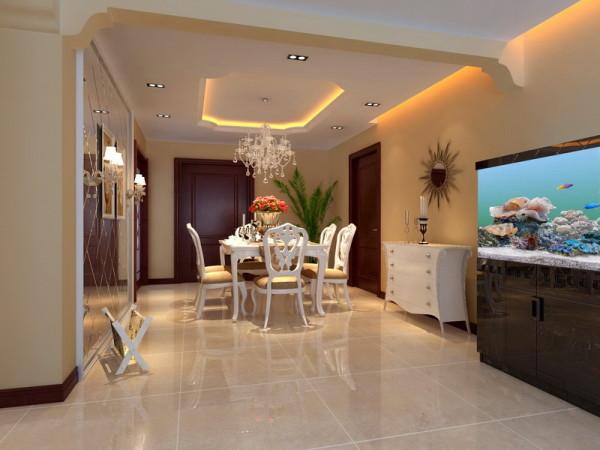 餐厅空间是独立的,象白的餐桌餐椅是欧式的代表,更加体现家的温馨,设计方面更是考虑到使用,空间利用合理