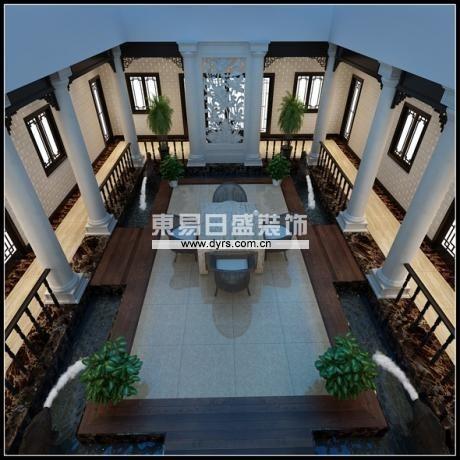 业主对中式有着独特的情怀。我为他设计的带有古老四合院的感觉,希望给他感觉类似于自己的私人会所。采取新中式风格。