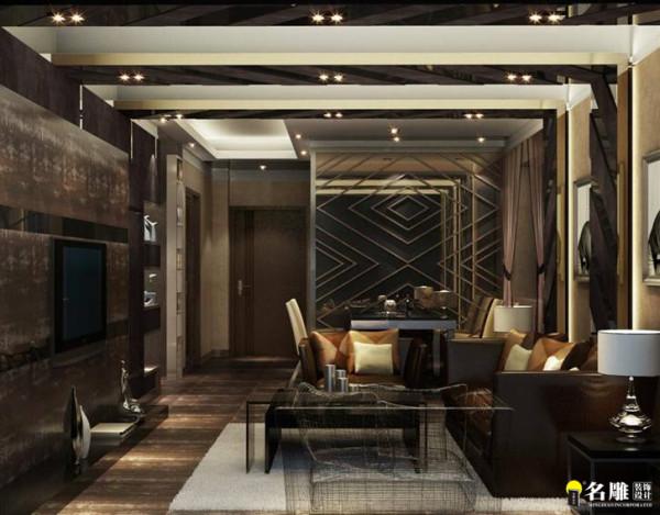 名雕装饰设计——鼎尚时代——A1户型——客厅