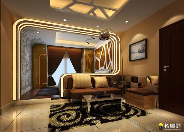 名雕装饰设计——鼎尚时代——J1户型——客厅