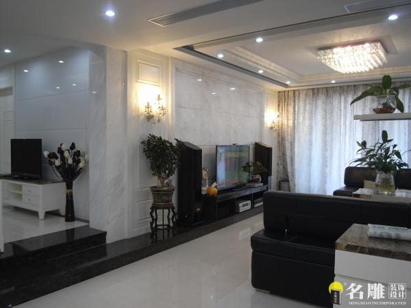 名雕装饰设计——新古典三居室——客厅一角