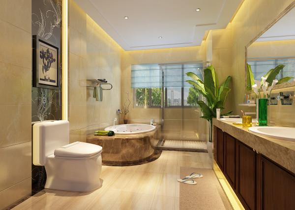 卫生间是设计中特别关注的一个空间,由于卫生间相对于其他空间的面积都要小,那么这个区域的空间布置就显得尤为重要,在材料的选用上也要注意空间内部的光线,要有能扩张空间的效果。