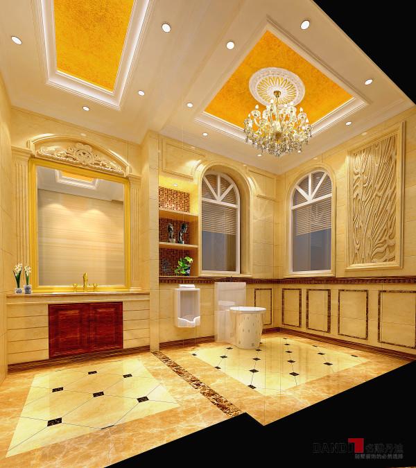 名雕丹迪设计——御泉山独栋别墅——欧式风格——一楼卫生间