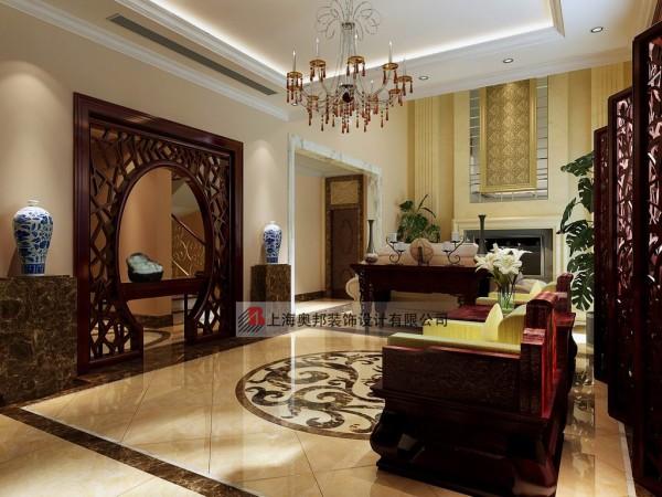 别墅装修混搭风格设计奥邦装饰陈浩作品客厅设计