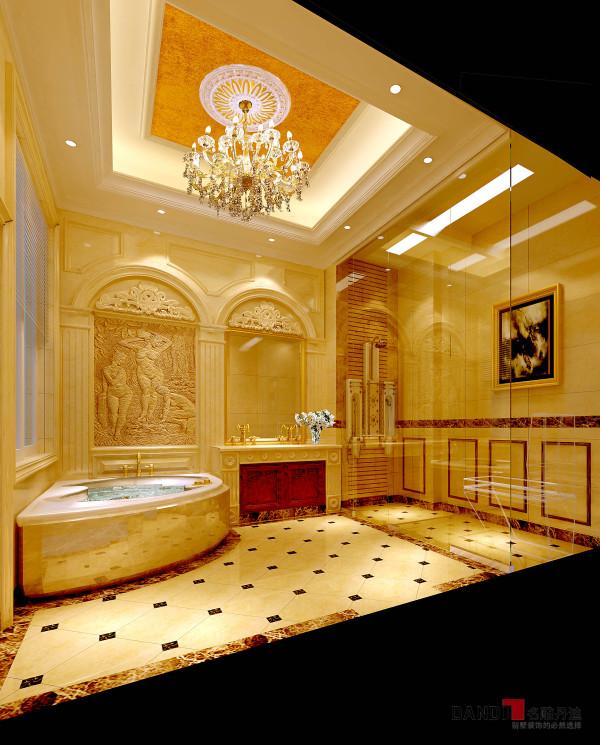 名雕丹迪设计——御泉山独栋别墅——欧式风格——主卧卫生间
