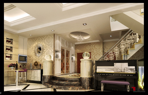 名雕丹迪设计—-世纪新城别墅-玄关
