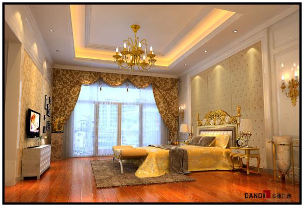名雕丹迪设计——御泉山别墅——欧式风格——卧室