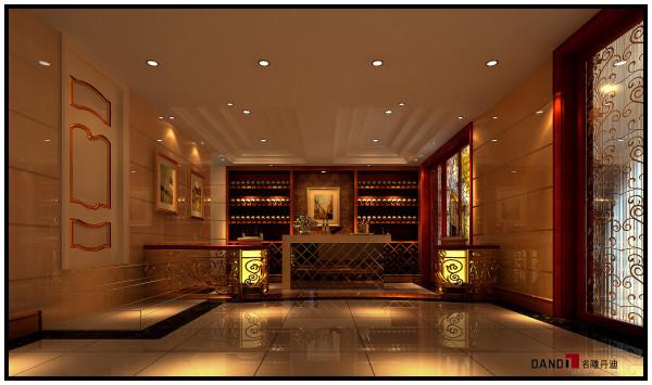 名雕丹迪设计——御泉山别墅——欧式风格——红酒区